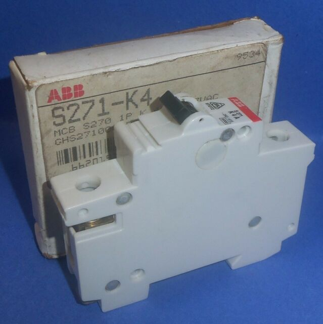 ABB 277VAC 4A SINGLE-POLE CONTACTOR VDE 0660 S271-K4 *NEW*