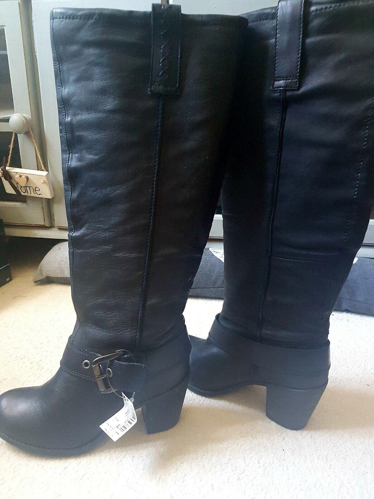 NEXT Noir Bottes Hautes Taille 4