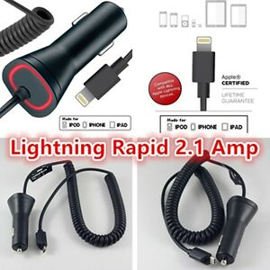 Lightning-Rapid-2-1-Amp-Lightning-Car-Charger-for-iPhone-7-6-6s-7-6-Plus-5c-SE