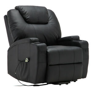 Image is loading Electric-Lift-Power-Recliner-Chair-Heated-Massage-Sofa-  sc 1 st  eBay & Electric Lift Power Recliner Chair Heated Massage Sofa Lounge w ... islam-shia.org