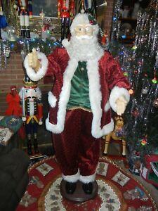 Christmas Singing Images.Details About Animated Life Size 5 Foot Singing Dancing Santa Soft Beard Christmas Rare Eb