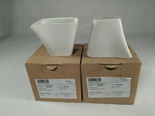 """2 Kahla Cumulus Bowl with Spout White Porcelain 3/"""" x 2/"""" Bowls New in Box Germany"""