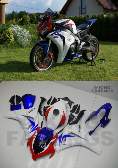 New White Blue Injection Plastic Fairing Fit for Honda 2008-2011 CBR1000RR b28