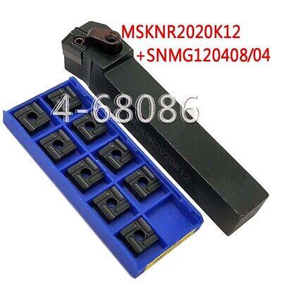 1PCS SNMG120408 CNC insert Lathe Turning Tool Boring Bar Holder Details about  /S20R-MSKNR12