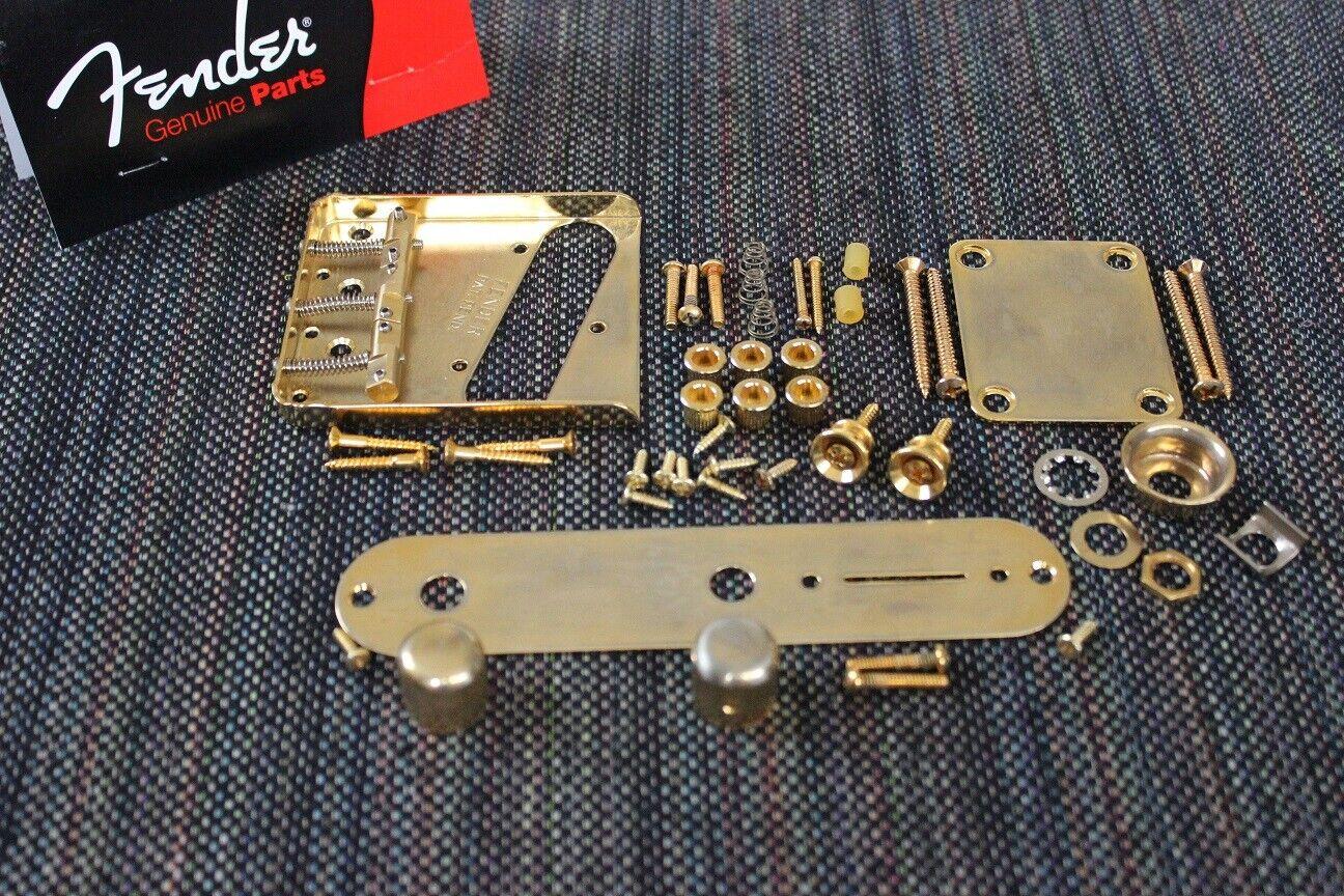 FENDER USA Tele Vintage Relic Gold Hardware Set w  Wilkinson Compensated Saddles