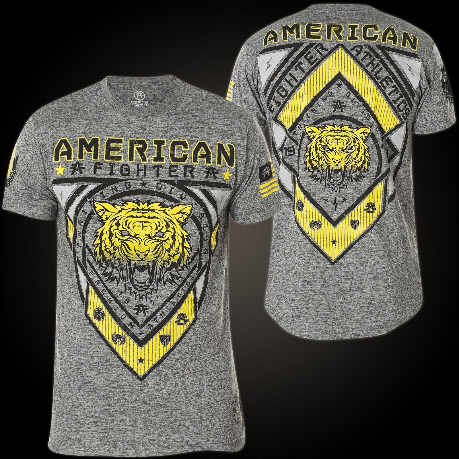 AMERICAN FIGHTER Affliction T-Shirt T-Shirt T-Shirt Chesterbrook Grau T-Shirts 6a6830