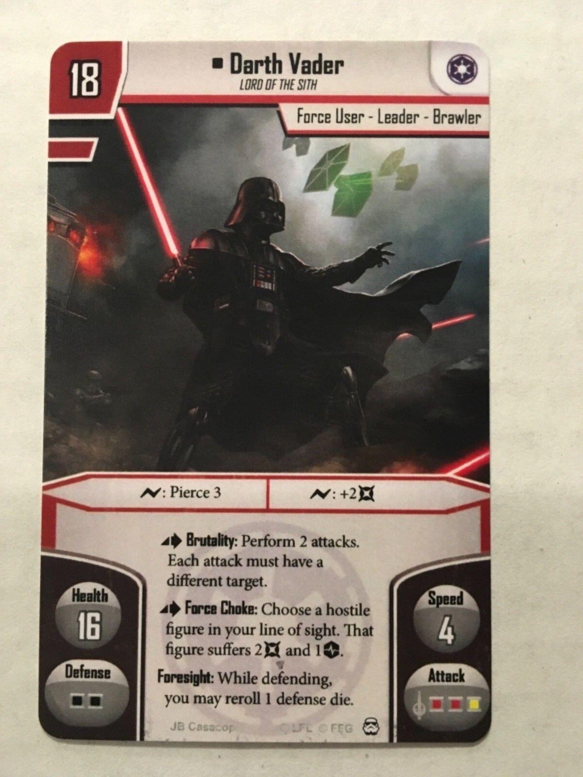 Star Wars Imperial Assault Alt Art Darth Vader Worlds 2015 FFG Unplayed