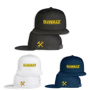 DeWalt-5-Panel-Casquette-Brode-Auto-Logo-Snapback-Chapeau-Baseball-Cap-Homme