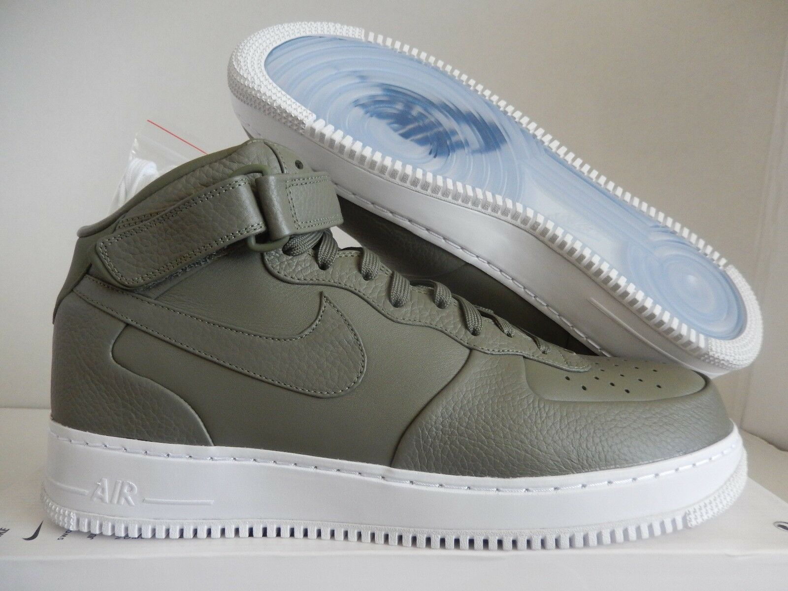 NIKELAB AIR FORCE 1 MID URBAN HAZE-WHITE Price reduction The latest discount shoes for men and women
