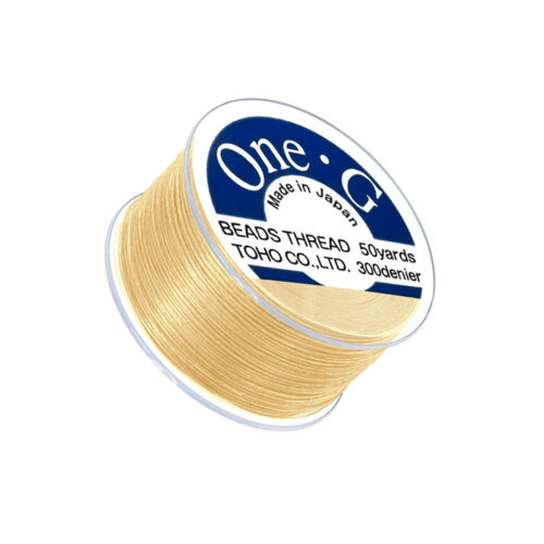 Toho One-G 0.2mm Nylon Japanese Beading Thread Light Yellow 50 Yards Q109//8