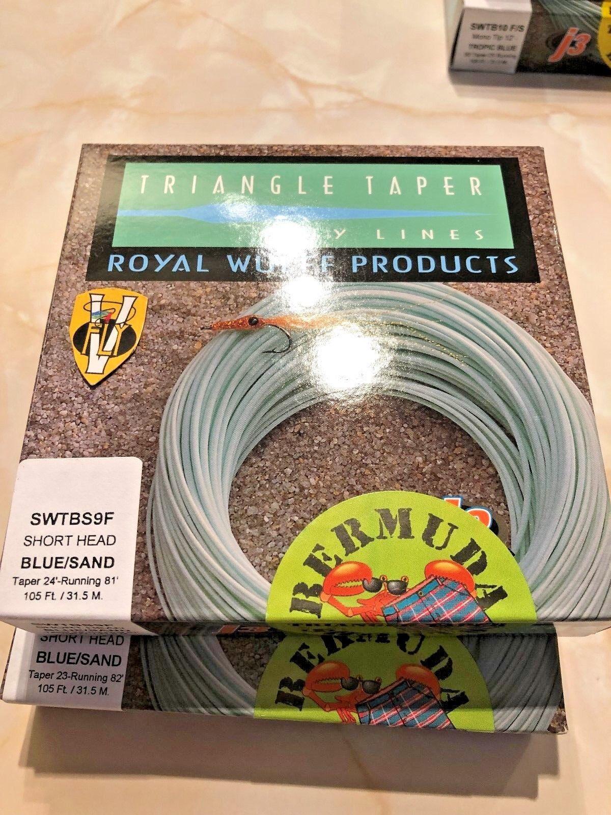 Royal Wulff Bermuda Kort Triangulandspelare Flytande Saltvattens Flyglinje Storlek 7-9
