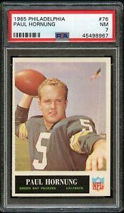 1965-Philadelphia-FB-Card-76-Paul-Hornung-Green-Bay-Packers-PSA-NM-7