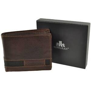 Mens-Bi-Fold-BUFFALO-LEATHER-WALLET-Rowallan-of-Scotland-Panama-Collection-Gift