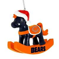 Chicago Bears Chirstmas Tree Ornament - Rocking Horse -