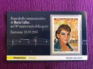 TESSERA-FILATELICA-2007-MARIA-CALLAS