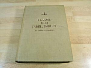 Siemens Formel- und Tabellenbuch für Starkstrom-Ingeneure / Gebunden