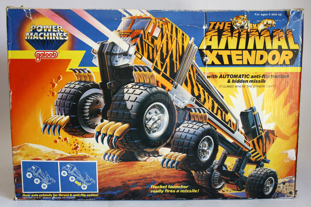 VERY RARE VINTAGE 1985 THE ANIMAL XTENDOR AGRIMIA TRUCK CLAWS GALOOB NEW NOS