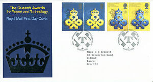 10-APRIL-1990-QUEENS-AWARDS-ROYAL-MAIL-FIRST-DAY-COVER-LONDON-LETTER-SHS-a
