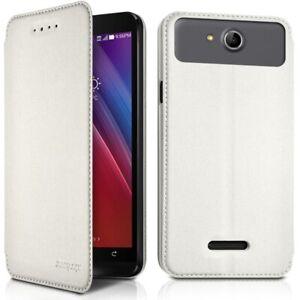 Etui-a-Rabat-Couleur-Blanc-Ref-7-A-pour-Smartphone-Samsung-A10