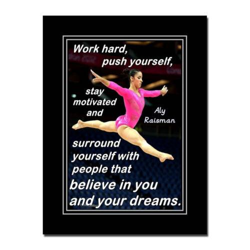 USA Artistic Gymnastics Wowen Olympic Silk Poster 24x32inch Alexandra Raisman