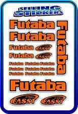 FUTABA SERVO RADIO RX TX 2.4G FLIGHT REMOTE CONTROL STICKERS FASST ORANGE BLACK