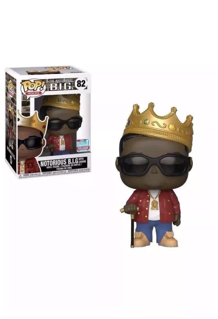 Biggie Smalls With Crown Notorious BIG Funko Pop  Vinyl NYCC 2018 PRE-ORDER