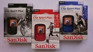 Details about SanDisk Clip Sport Plus 16GB BLUETOOTH Genuine MP3 Player  Original Box BRAND NEW