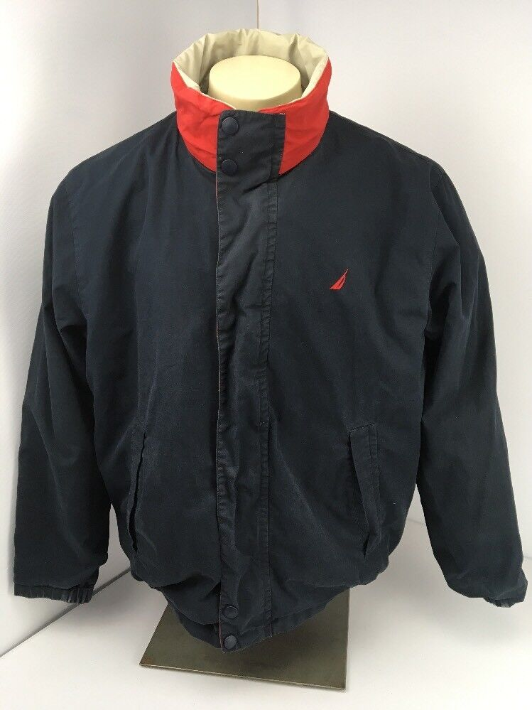 Nautica Jacket Vintage Reversible Bomber Men L La… - image 2