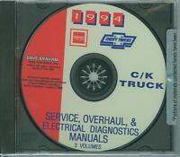 1994 Chevrolet C/k Pickup Factory Shop & Overhaul Manual On Cd