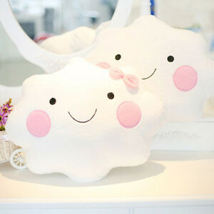 Image Is Loading Cute Cloud Shape Pillow Cushion Soft Stuffed Plush