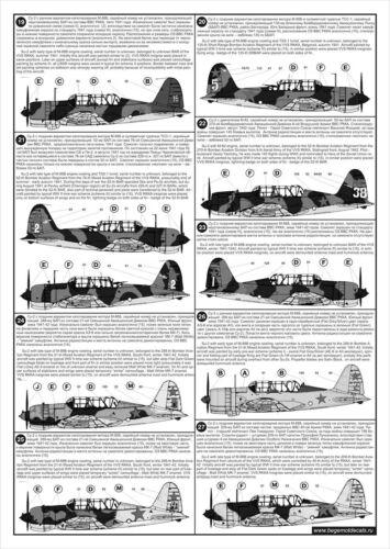 BGM-72052 Begemot decals 1//72 Sukhoi Su-2 Soviet WW2 Light Bomber Family