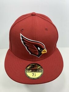 New-Era-59FIFTY-Burgundy-Arizona-Cardinals-7-5-8-Fitted-Flat-Bill-Cap-NEW