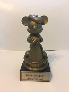 "Disney MGM Studios Golden MICKEY MOUSE ""BEST GRANDMA""  Award Trophy / Statue"
