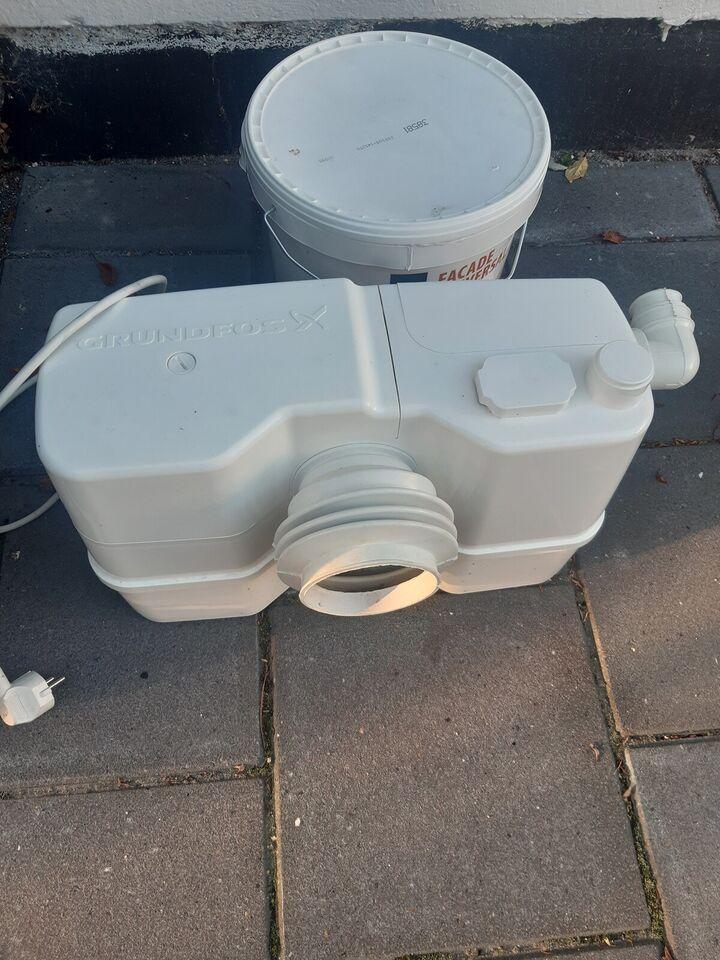 Afløbspumpe , Grundfos pumpe toiletkværn