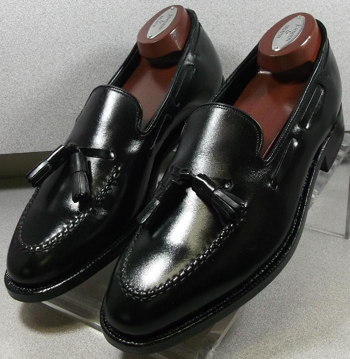 244901 pfcr 50 para hombres zapatos D Negro Cuero Borla loaferjohnston Murphy
