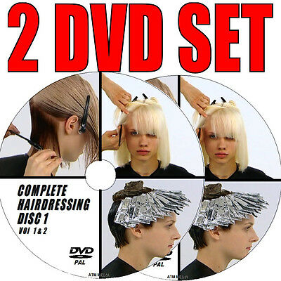 HAIRSTYLING LESSONS  FOR BEGINNERS WATCH & LEARN TO CUT & STYLE NEW 2 DVD SET