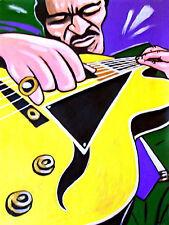 JOE PASS PRINT poster solo jazz guitar meditation cd virtuoso d'aquisto archtop