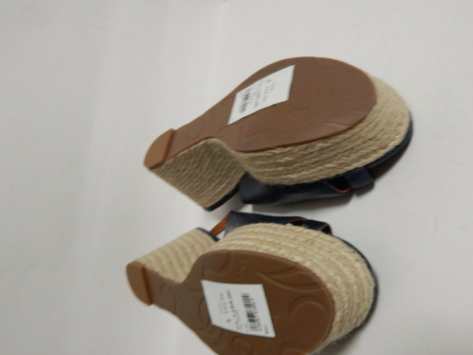 Via Spiga Luciana Sandale Platform Wedge Espadrille Sandale Luciana 10 M Navy  New without Box 3ac645
