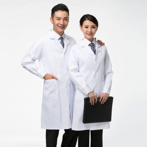 New Lab Coat Medical White Woman Classic Stylish Nurse Scrubs Doctor Gown Jacket