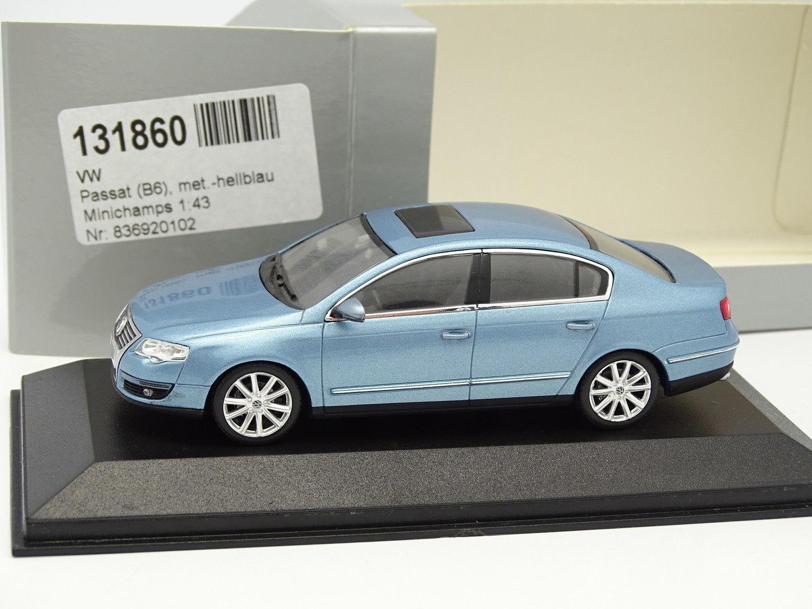 Minichamps 1 43 - VW Passat B6 bluee bluee bluee Métal 0e4808