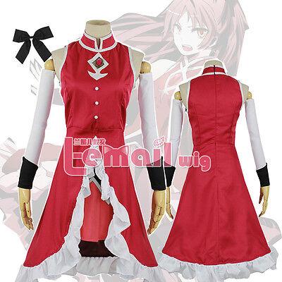 Puella Magi Madoka Magica Sakura Kyoko uniform Halloween Cosplay Costume dress