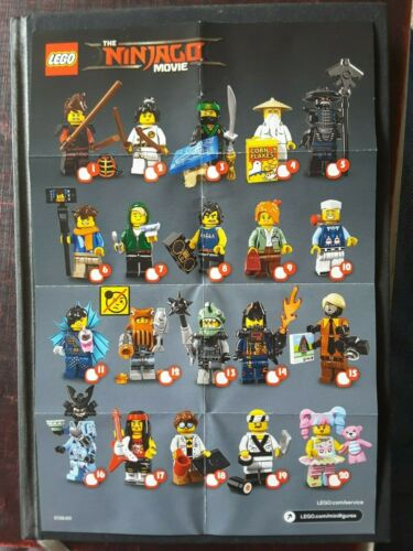 Leaflet Lego Ninjago Movie Minifigure Series 71019 New Checklist