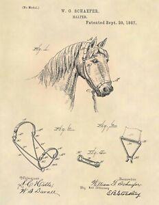 Horse-Halter-US-Patent-Art-Print-Official-Vintage-Antique-Original-Cowboy-749