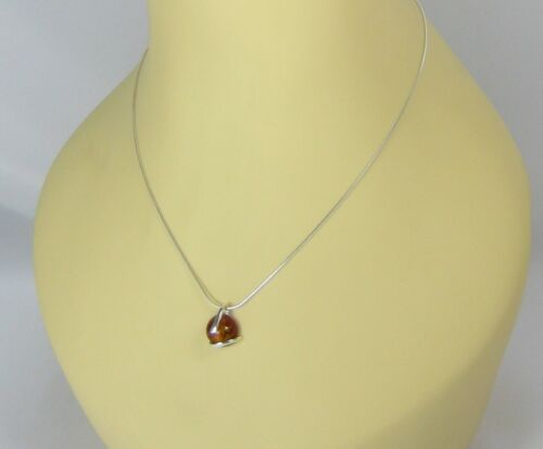 NATURAL BALTIC AMBER JEWELLERY STERLING SILVER 925 PENDANT /& NECKLACE Certified