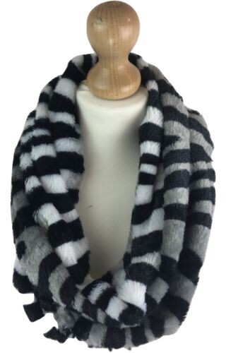 NEW LADIES WOMEN SOFT STRIPE PRINT HIGH QUALITY SNOOD COWL NECK WARMER