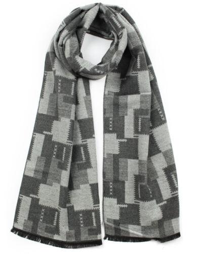 New Maze Chess Board Patterned Elegant Men's Boy Cashmere Warm Winter Scarf xmas