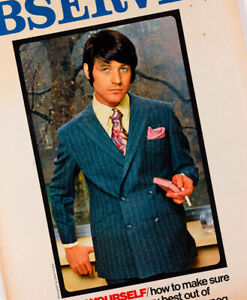 Kaffe Fassett Mods Menswear 1960 S Men S Fashion Blades Suit Observer Magazine Ebay