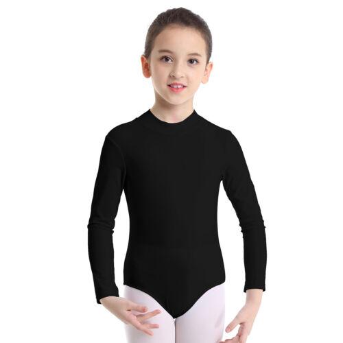 US Girls Ballet Dance Leotards Gymnastics Long Sleeve Leotard Dancewear Costumes