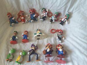 Lot-of-15-Nintendo-Mario-Luigi-Yoshi-Figures-Soccer-1989
