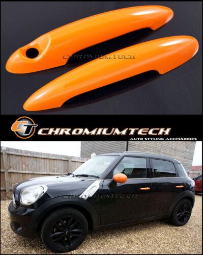 Mini Cooper//S//One R52 R53 R56 R58 R59 R61 Roadster orange Poignée De Porte Couvre
